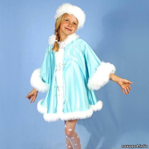 Костюм снегурочки своими руками фото детский