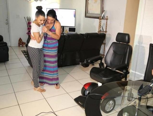Линда Перес после реабилитации